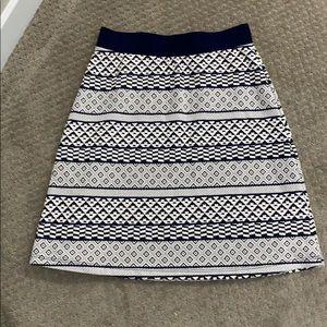 New Stitch Fix Gilli Blue and white print skirt